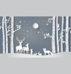 Winter season and merry christmas vector