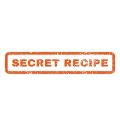 Secret recipe rubber stamp vector