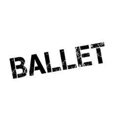 Ballet rubber stamp vector