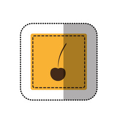 color emblem cherry icon vector image