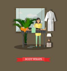 Spa body treatment body wraps concept vector