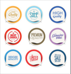 modern sale sticker and tag colorful collection 2 vector image