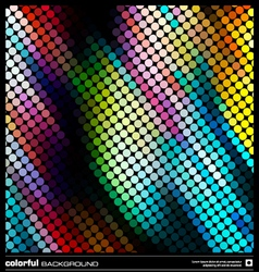 Abstract dotted mosaic background vector image