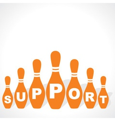 Bowling pins make support word vector
