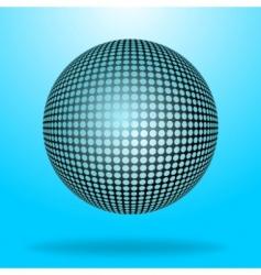 halftone sphere vector image