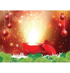 Christmas gift backgroound vector