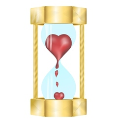 Heart in the hourglass vector