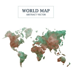 World map abstract design vector