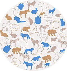 Animal icons vector