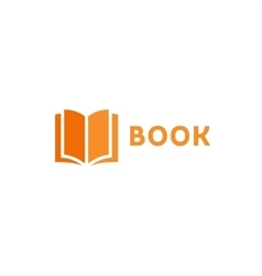Book page icon logo orange style flat vector