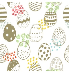 Easter pattern with color elements vector