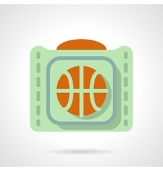 Basketball accessories flat color icon vector