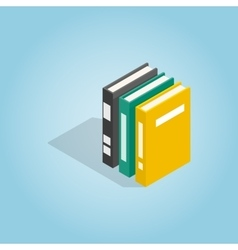 Three books of encyclopedia icon vector