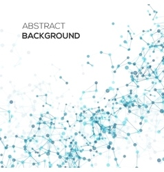 Abstract line background with circles vector image
