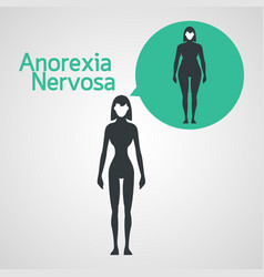 anorexia nervosa icon vector image