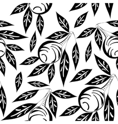 Black and white olive pattern vector