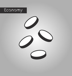 Black and white style icon coins vector