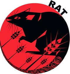 Chinese Horoscope rat vector image vector image
