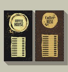 coffee menu set of two vintage labels vector image vector image