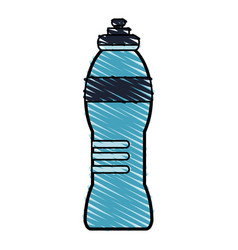 Color drawing pencil cartoon sports bottle for vector
