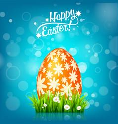 Easter egg hunt blue background april holidays vector