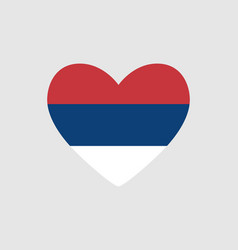 Heart of the colors of the flag of serbia vector