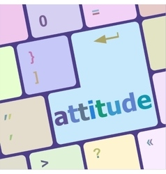 Keyboard with enter button attitude word on it vector