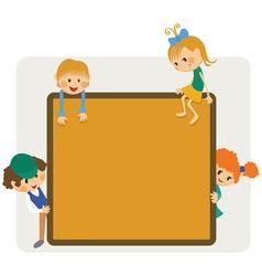 Kids frame notice vector image vector image