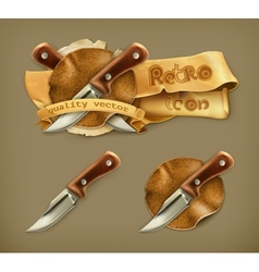 Knife retro icon vector image