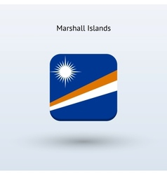 Marshall islands flag icon vector