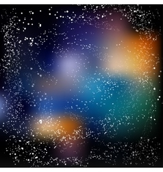 Multicolored space background with Milky Way Eps vector image