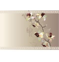 Orchid wedding cart vector