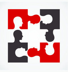 people four puzzle concept vector image vector image