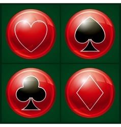 Poker casino button vector image vector image