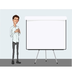 Presentation of business product project report vector image vector image