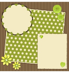 Scrap book layout vector
