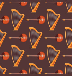 seamless pattern background stringed musical vector image
