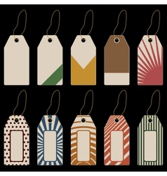 set of tags with geometrical pattern vector image vector image