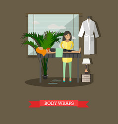 spa body treatment body wraps concept vector image vector image