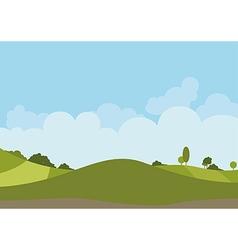 Spring Green Landscape vector image vector image
