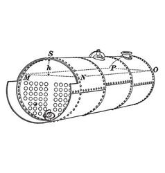 Steam boiler vintage vector