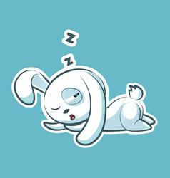 sticker emoji emoticon emotion sleep on stomach vector image vector image