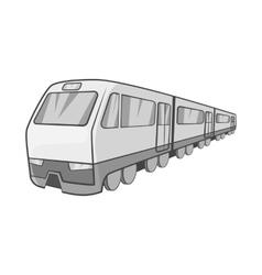Suburban electric train icon vector