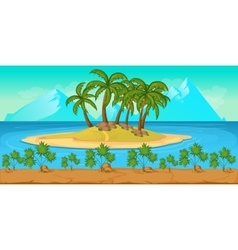Tropical beach landscape for ui game vector