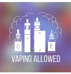 Vape icons set2 vector