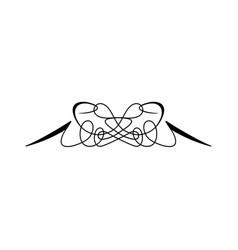 vintage calligraphic swirl - floral wicker vector image vector image