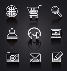 web icons glossy vector image vector image