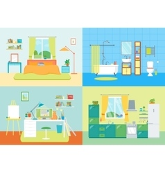 Cartoon Interior Basic Room of Home vector image