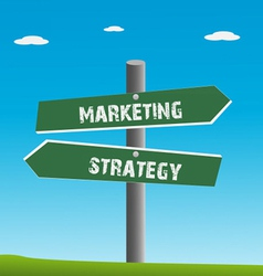 Strategy and marketing traffic vector