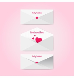 Sweet envelopes in material style vector